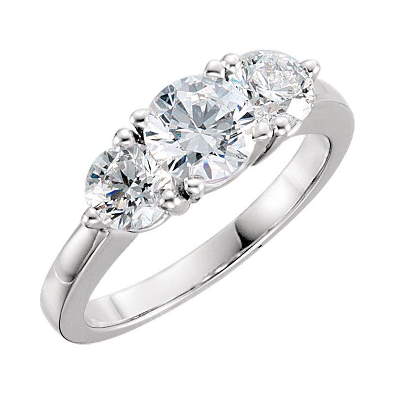 Elegant Platinum 3-Diamond Wedding Band