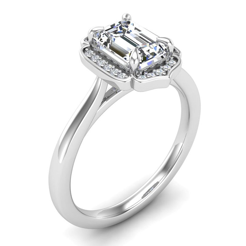 14 Karat Vintage Halo Ring