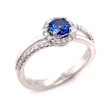 18 karat Sapphire and Diamond Ring