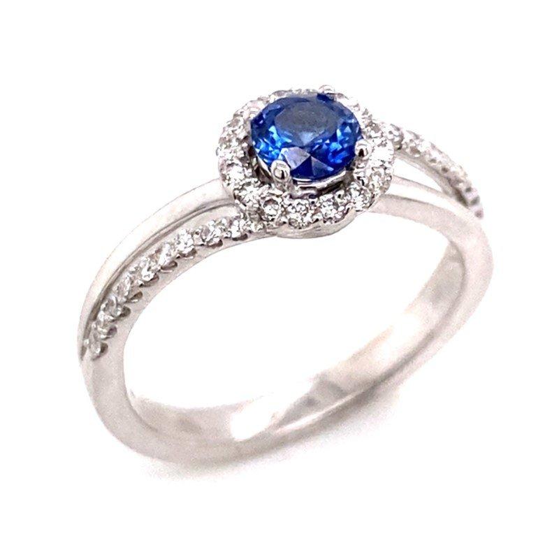 18 karat Sapphire and Diamond Ring