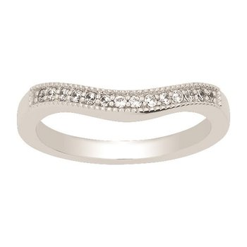Custom Curved Wedding Band to fit your ring