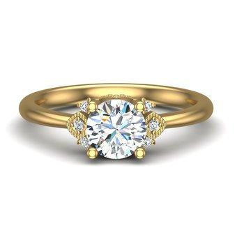 14 Karat Accented Ring Mounting