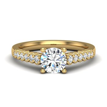 14 Karat Cathedral With Scroll Details Ring Mounting