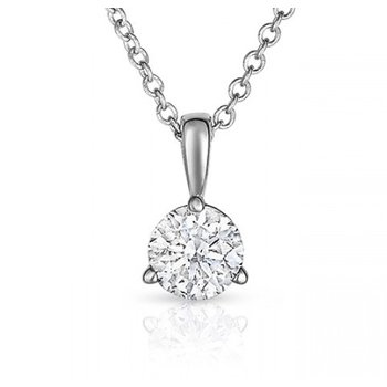 Classic Diamond Solitaire Pendant .45 ct
