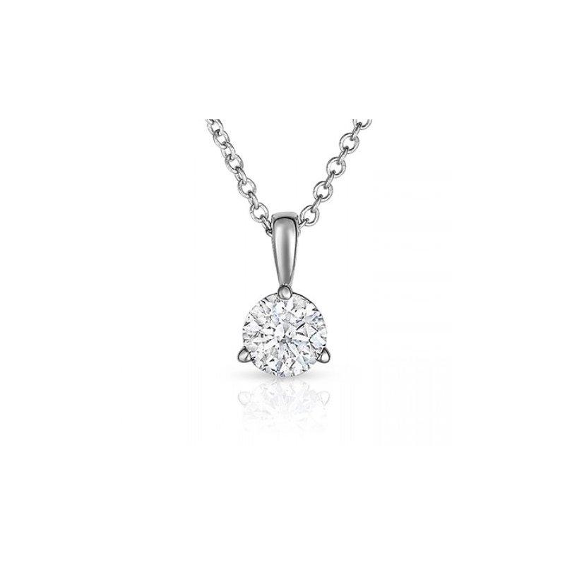 Classic Diamond Solitaire Pendant .45 ct