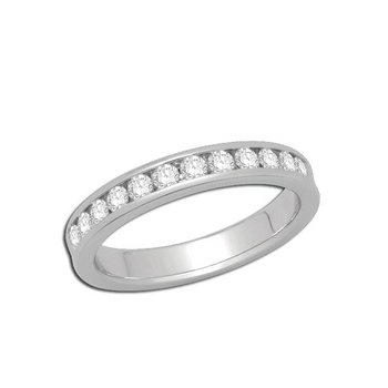 14kt White Gold Channel Set Band Diamonds