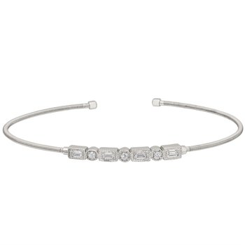 White Sterling Silver Flex Bracelet