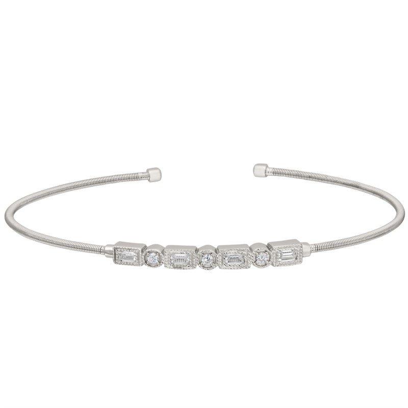 White Sterling Silver Flex Bracelet