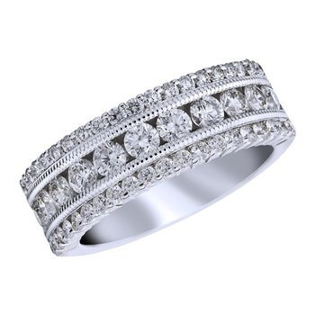 Complex White Diamond Band
