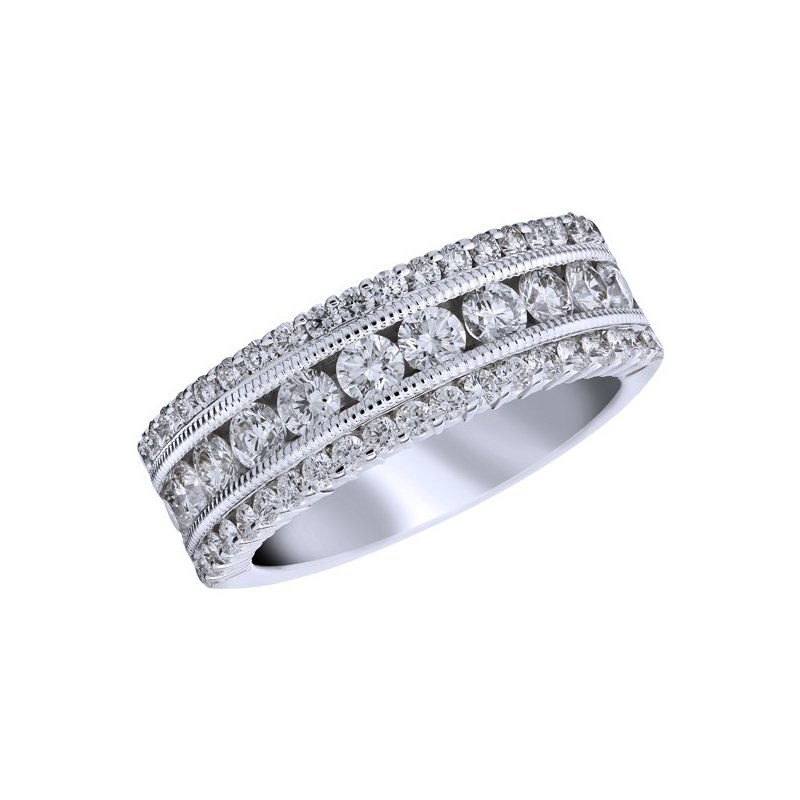 Complex White Diamond Band