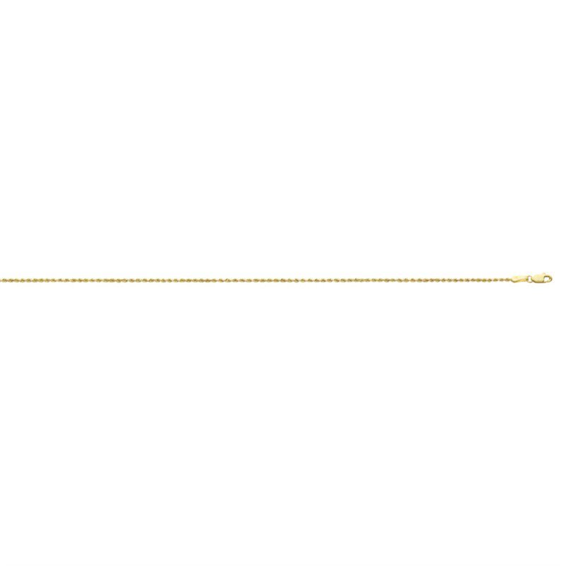 "Yellow Diamond Cut 14 Karat Rope Necklace Length 16"""