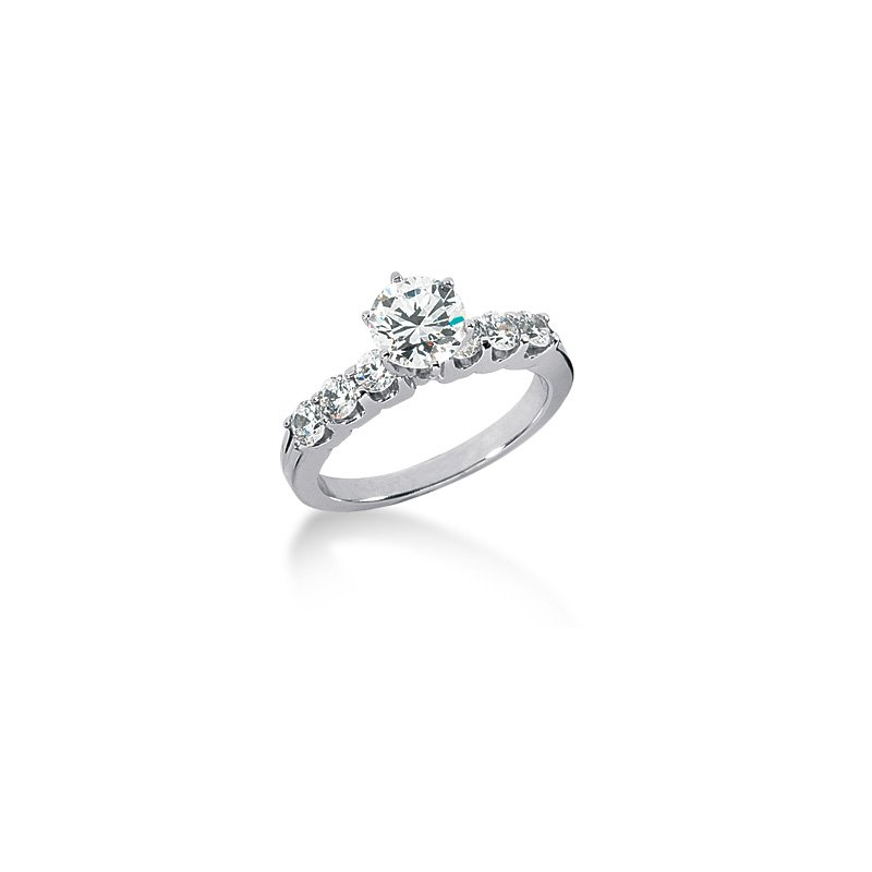 Classic Common Prong Style Engagement Ring Mounting