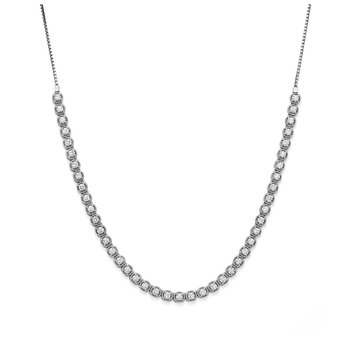 White 14 Karat Pendant With 57=1.31Tw Round Diamonds chain length: 30 <adjustable>