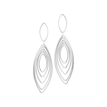 Sterling Silver Multi Hoop Earrings