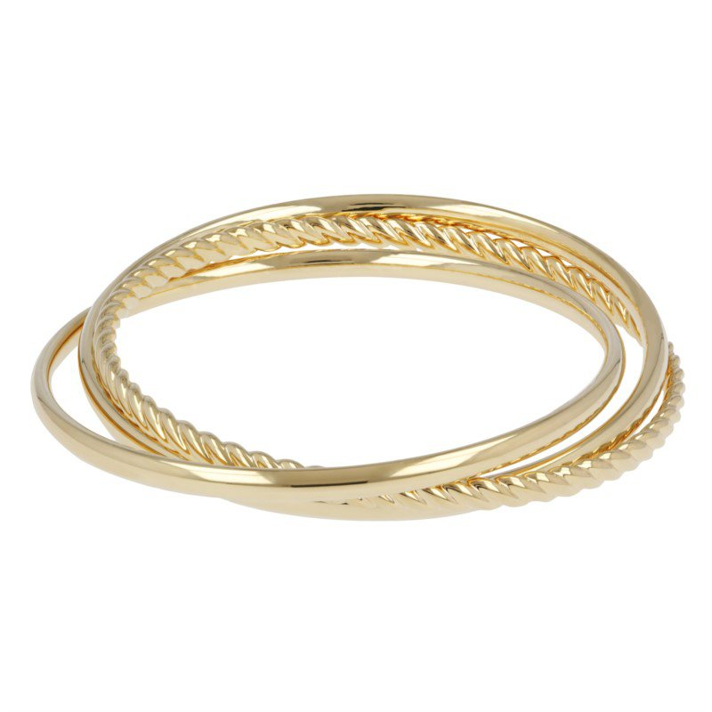 Jingley Triple Bangle Bracelet in Yellow Gold