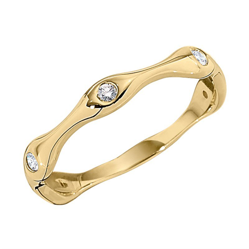 14kt Stackable Band in White, Yellow or Rose