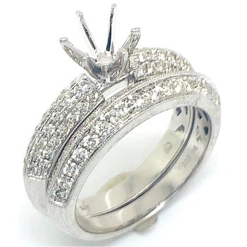White Gold Pave Diamond Set of Rings