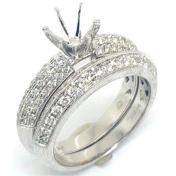 White Gold Pave Diamond Set of Rings
