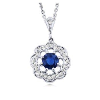 Sweet Design Sapphire and Diamond Pendant