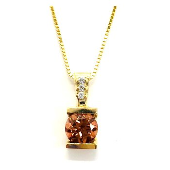 Hot Brown Zircon Pendant