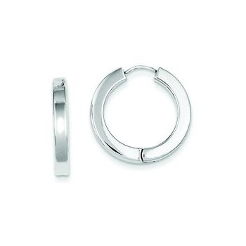 14 Karat White Gold Huggie Earrings