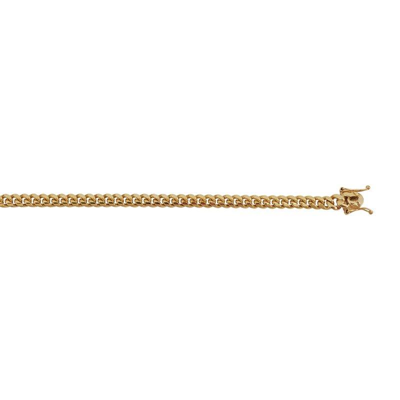 Yellow Polished 10 Karat Cuban Link Bracelet