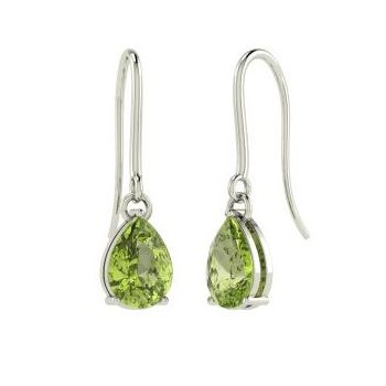 Spring Green Peridot Drop Earrings