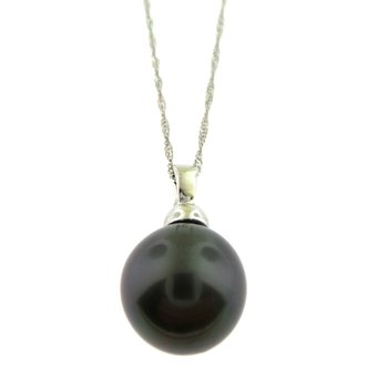 14 Karat Tahitian Pearl Pendant and Singapore Neck Chain