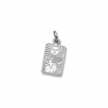 Sterling Silver Tarot Card Charm