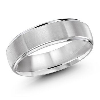 6mm Satin and Bright Finish Platinum Band