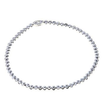 Sterling Silver Diamond Cut Bead Bracelet