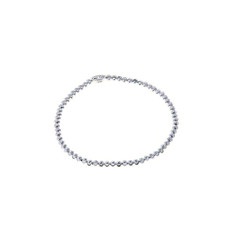 Sterling Silver Diamond Cut Bead Bracelet