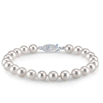Gleaming Fresh Water Pearls Bracelet With 14 Karat Gold Clasp