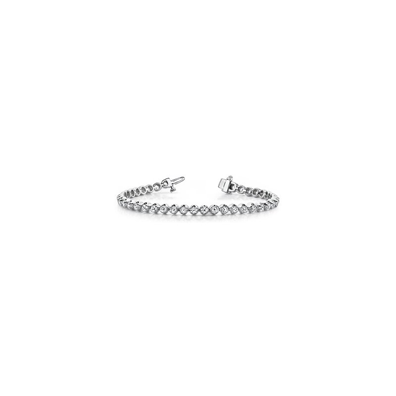Sparkling 14 Karat Bracelet With Diamonds