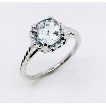 White Gold Aqua Ring