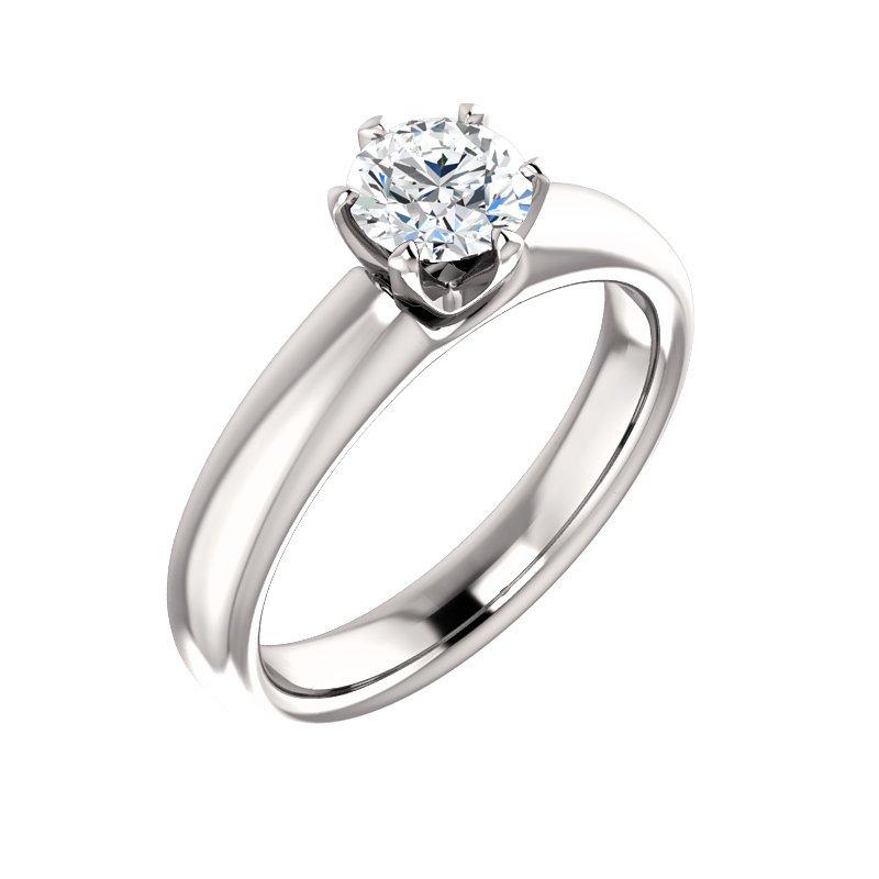 White 14 Karat Solitaire Ring