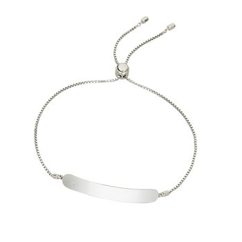 Sterling Silver Engraveable ID Bracelet