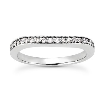smooth curve diamond band