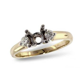 Lovely Yellow Gold Classic 3 Stone Ring Mounting