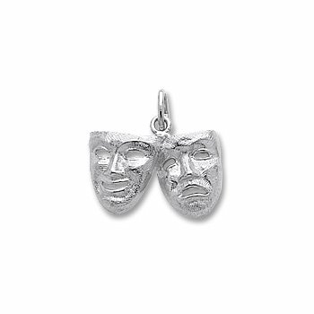 Sterling Silver Comedy & Tragedy Charm