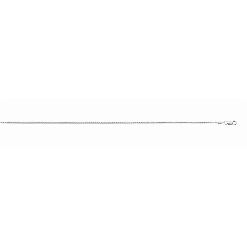 White Diamond Cut 14 Karat 1.2 Mm Diamond Cut Wheat Necklace Length 16