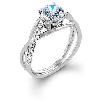 14 Karat Diamond Crossover semi-mounting