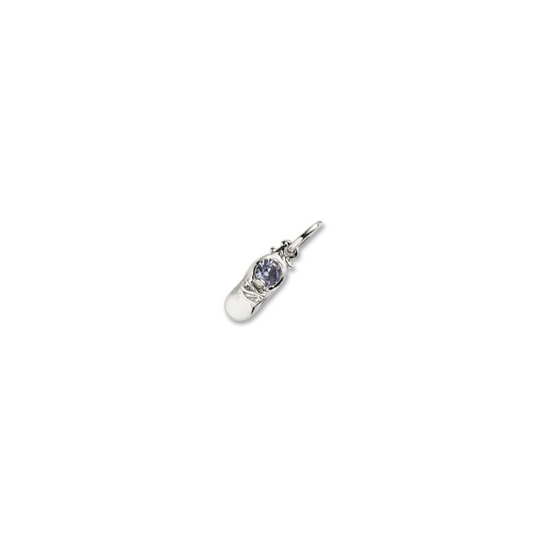 Sterling Silver March Bootie Charm