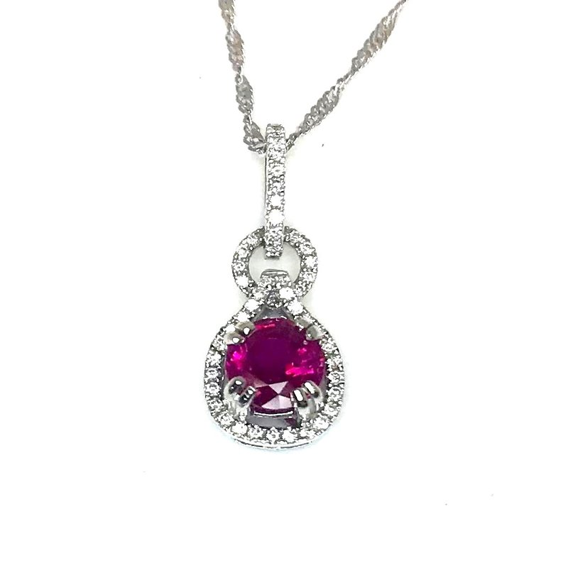 Beautifully Designed Ruby and Diamond Pendant