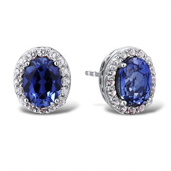 Entrancing Tanzanite and Diamond Earrings