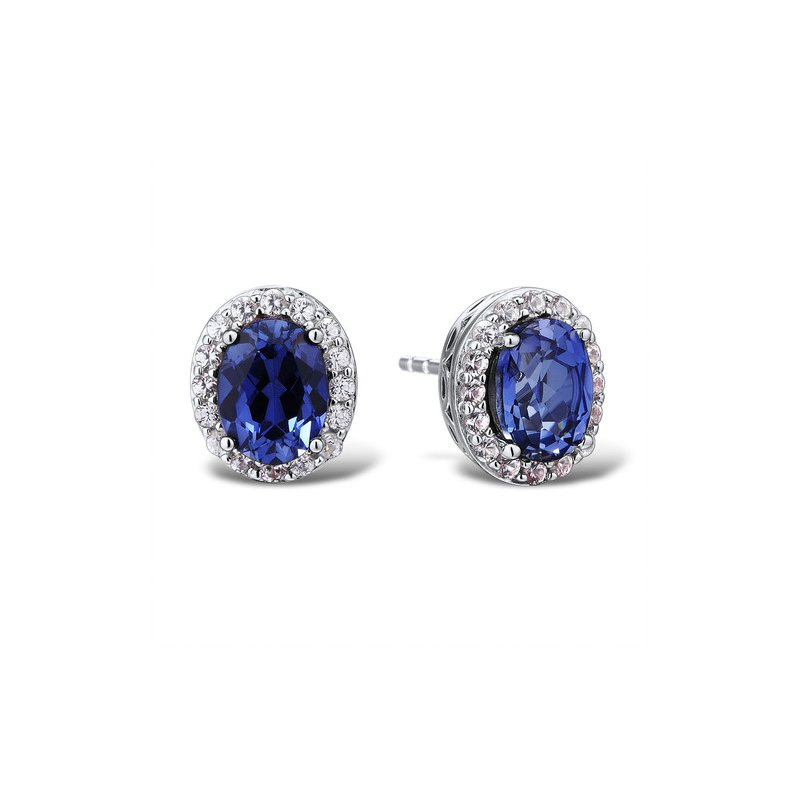 Entrancing Tanzanite and Diamond Earrings