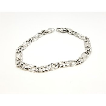 "14 Karat 8 1/2"" Flat Figure 8 Link Bracelet, 24.3 Grams"