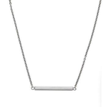 Sterling Silver 3D Square Pendant - Engraveable