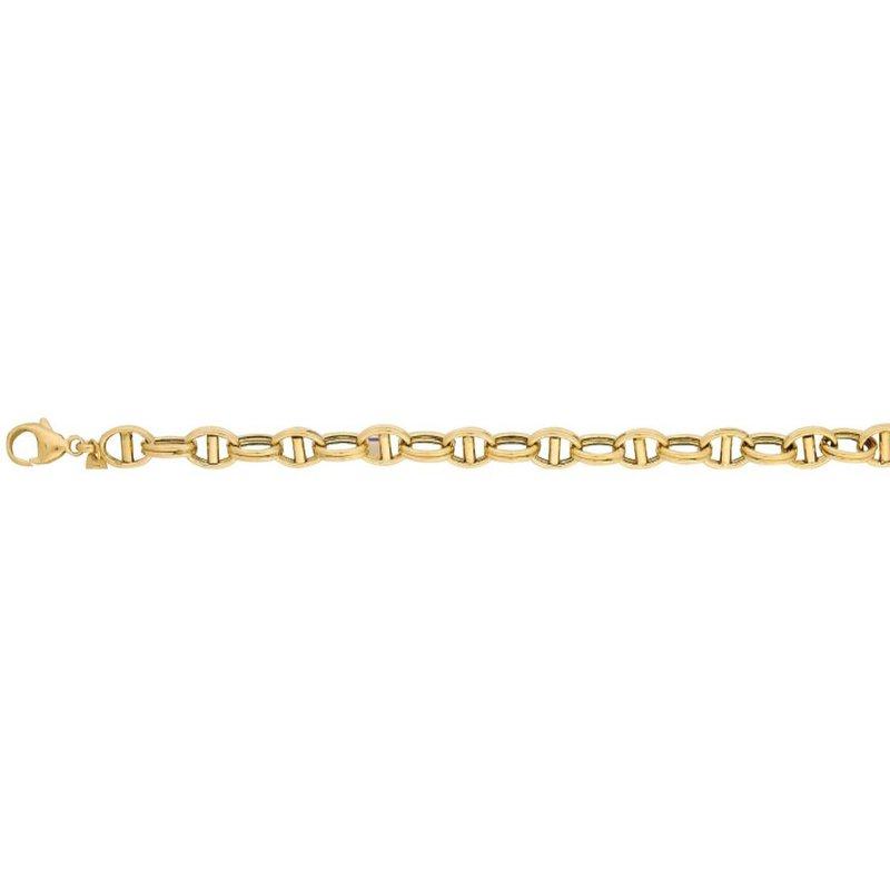 Yellow 14 Karat Fancy Link Bracelet