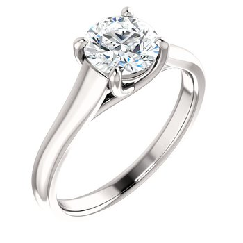 White 14 Karat Solitaire Ring